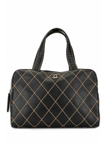 Кожаная черная кожаная сумка двусторонняя на молнии Chanel Pre-owned