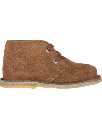 Коричневые ботинки замшевые Naturino