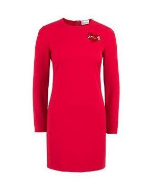 Деловое платье красный Valentino Red