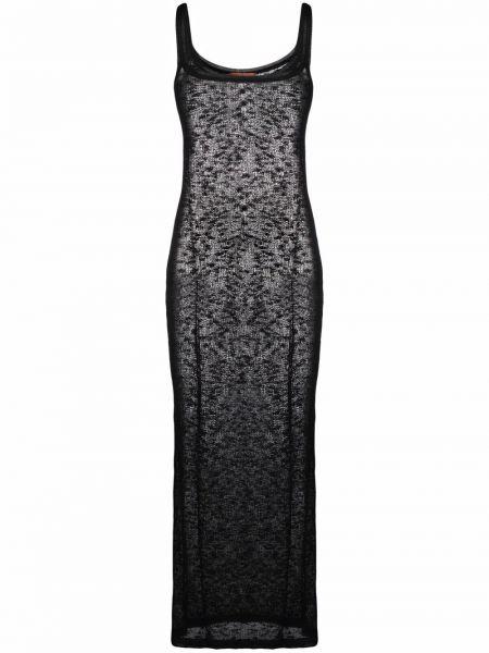 Хлопковое платье миди - черное Missoni