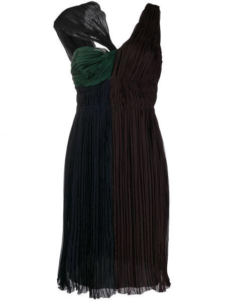 Платье с поясом винтажная со складками Prada Pre-owned