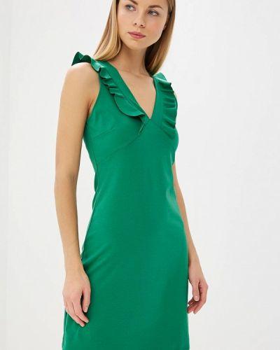 Зеленое платье льняное Miss Miss By Valentina