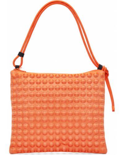 Pomarańczowa torebka duża oversize Pleats Please Issey Miyake