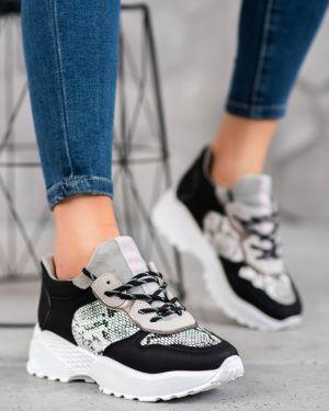 Czarne sneakersy skorzane oversize Mckeylor