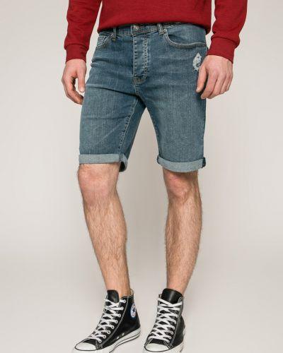 Джинсовые шорты прямые хлопковые Bench