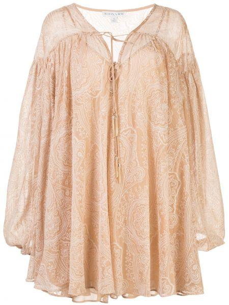 Плиссированное платье с вышивкой на пуговицах металлическое Shona Joy