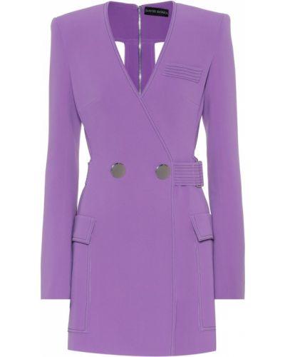 Платье мини из вискозы фиолетовый David Koma