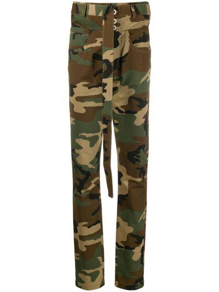 Брюки с завышенной талией брюки-хулиганы с карманами Unravel Project