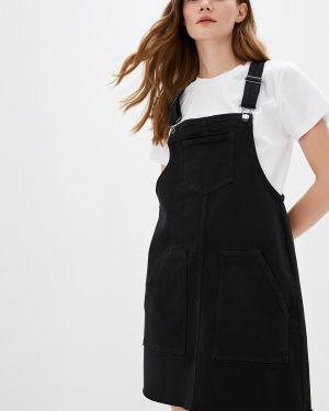 Платье платье-сарафан черное Q/s Designed By
