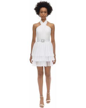 Платье мини с открытой спиной с американской проймой Alberta Ferretti