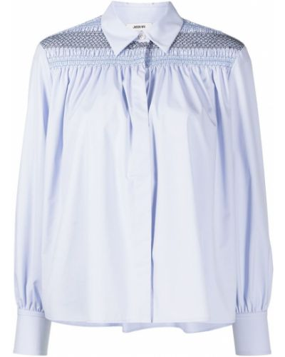 Длинная рубашка - синяя Jason Wu