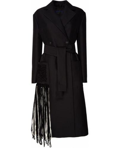 Пальто шерстяное с бахромой Proenza Schouler