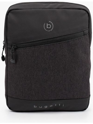 Текстильная сумка через плечо - серая Bugatti