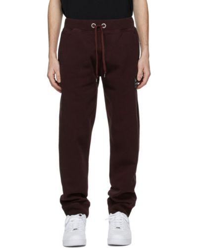 Красные брюки с карманами с манжетами Helmut Lang