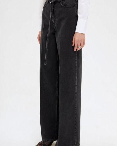Черные расклешенные джинсы свободного кроя Lime