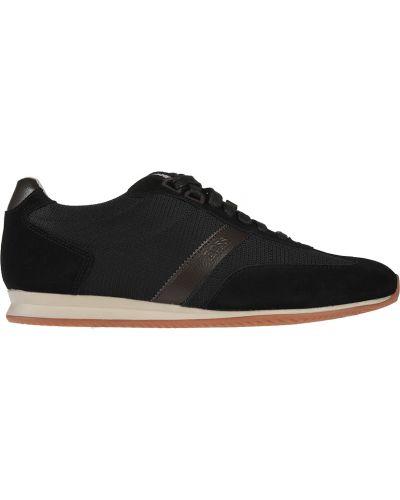 Текстильные кроссовки - черные Hugo Boss