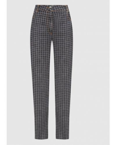 Серые джинсы с принтом Nina Ricci