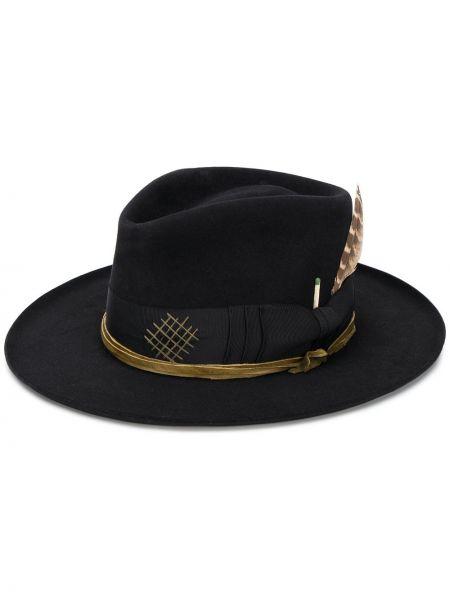 Черная шляпа с широкими полями свободного кроя Nick Fouquet