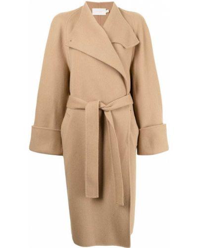 Коричневое пальто длинное Low Classic