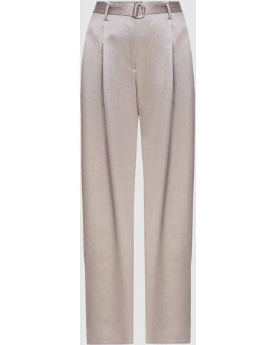 Повседневные серые шелковые брюки Sally Lapointe