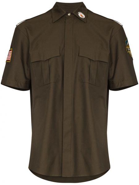Классическая классическая рубашка с воротником с заплатками с карманами Phipps
