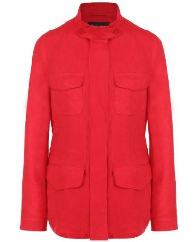 Куртка льняная красная Loro Piana