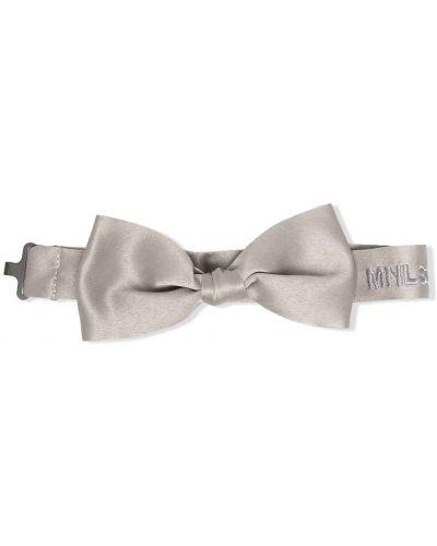 Серый галстук-бабочка с вышивкой Monnalisa
