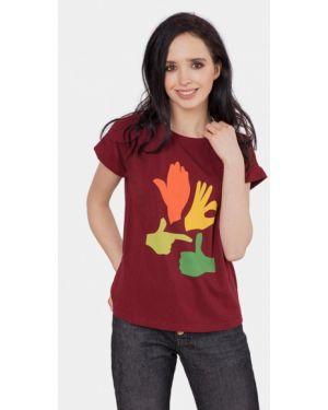 Бордовая футбольная футболка Mr520