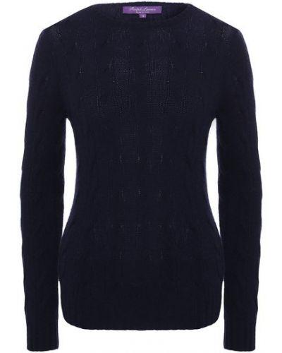 Кашемировый пуловер - синий Ralph Lauren