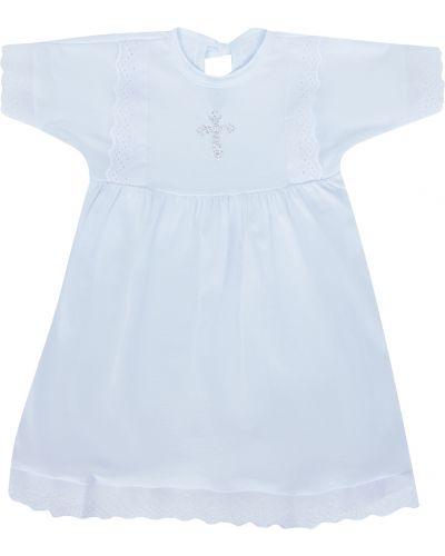 Платье с рукавами хлопковое ажурное моей крохе