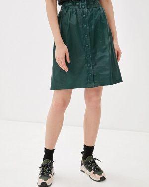 Джинсовая юбка кожаная Pepe Jeans