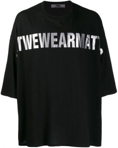 Черная футболка оверсайз Wwwm