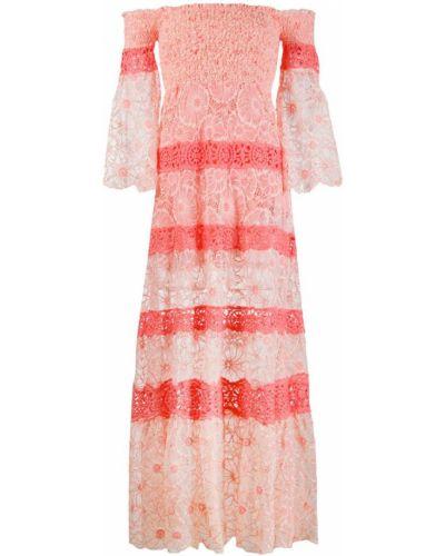 Розовое расклешенное платье макси Temptation Positano