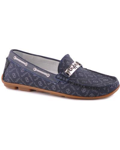 Мокасины синие текстильный Byblos