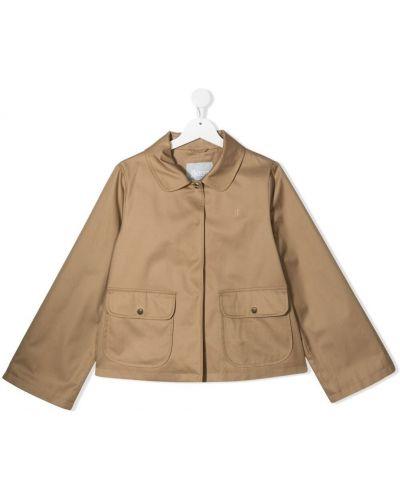 Золотистая желтая короткая куртка с воротником Herno Kids