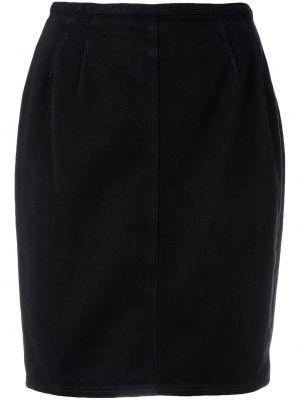 Черная прямая юбка мини винтажная узкого кроя Jean Paul Gaultier Pre-owned