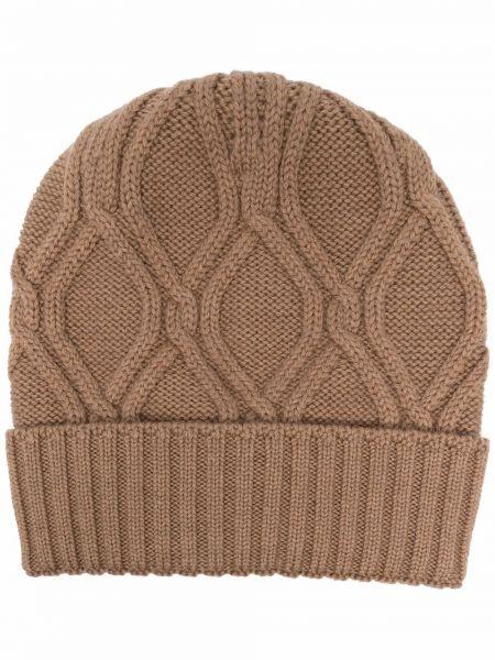 Beżowa czapka prążkowana Lardini