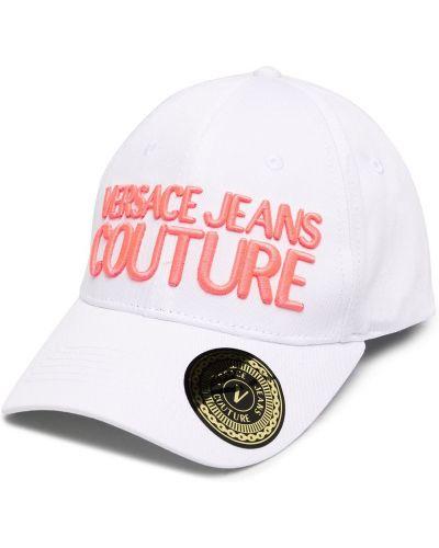 Бейсбольная белая бейсболка с вышивкой Versace Jeans Couture