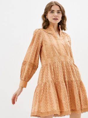 Оранжевое платье а-силуэта Y.a.s