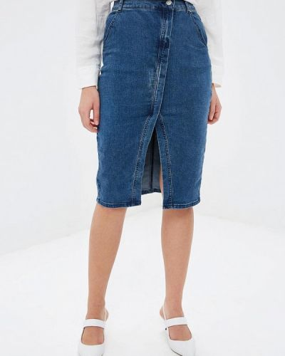 Джинсовая юбка - синяя Top Secret