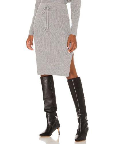 Трикотажная юбка миди - черная Bobi