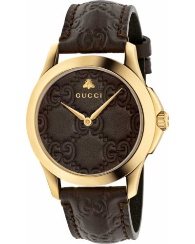 Модные с ремешком кожаные часы на кожаном ремешке Gucci