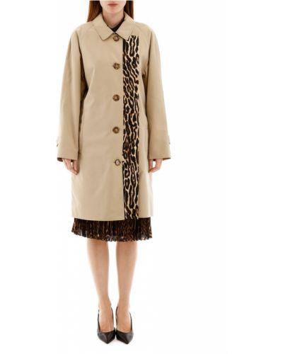 Klasyczny płaszcz bawełniany zapinane na guziki Burberry
