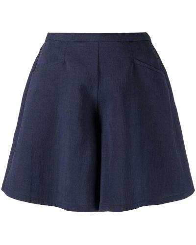 Синие с завышенной талией шорты свободного кроя Forte Forte