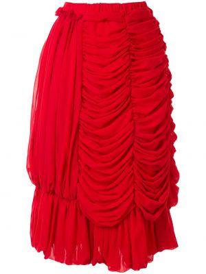 Красная с завышенной талией юбка с драпировкой Comme Des Garçons