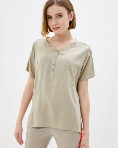 Бежевая блузка с короткими рукавами Luhta