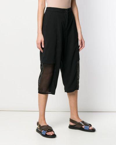 Черные шорты с карманами на пуговицах Chalayan