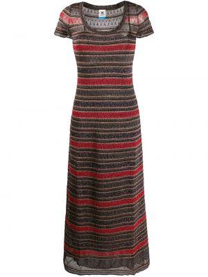 Красное платье мини свободного кроя с вырезом с короткими рукавами M Missoni