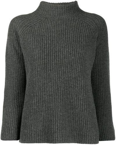 С рукавами шерстяной серый джемпер Gentry Portofino