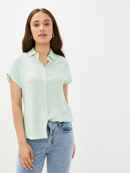 Зеленая блузка с коротким рукавом с короткими рукавами Defacto